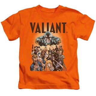 Valiant/Pyramid Group Short Sleeve Juvenile Graphic T-Shirt in Orange
