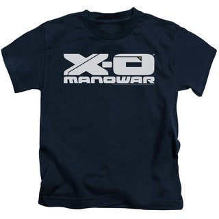 Xo Manowar/Logo Short Sleeve Juvenile Graphic T-Shirt in Navy