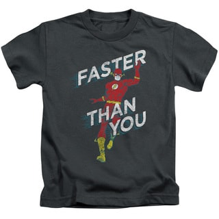 DC/Faster Than You Short Sleeve Juvenile Graphic T-Shirt in Charcoal