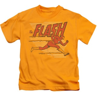 DC/Speed Lines Short Sleeve Juvenile Graphic T-Shirt in Gold