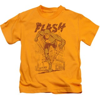 DC/Busting Out Short Sleeve Juvenile Graphic T-Shirt in Gold