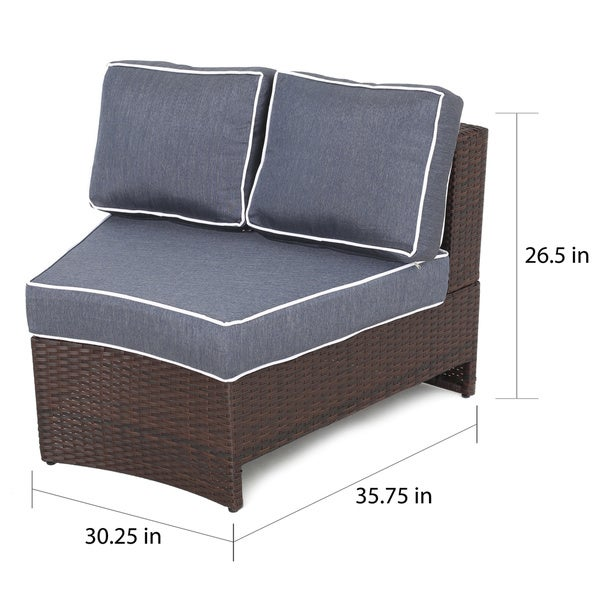Madras Tortuga Outdoor 4-seat Round Wicker Chat Set with Ottoman by Christopher Knight Home
