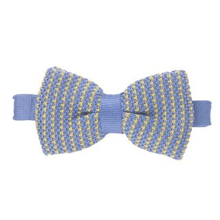 Elie Balleh Milano Italy 2015 Blue Microfiber Bow Tie