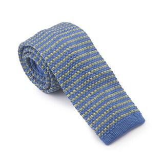 Elie Balleh Milano Italy Blue Microfiber Knitted Necktie