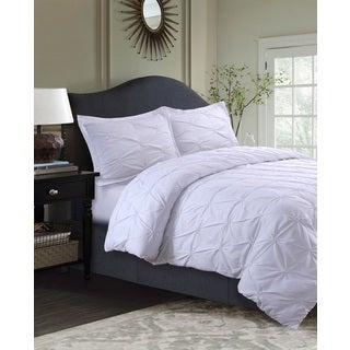 Sydney Oversized Pintuck 3-Piece Microfiber Duvet Cover Set
