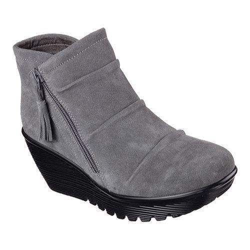 f43392fca31a Shop Women s Skechers Parallel Triple Threat Wedge Bootie Charcoal - Free  Shipping Today - Overstock - 12690258