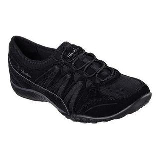 Women's Skechers Relaxed Fit Breathe Easy Moneybags Slip On Sneaker Black
