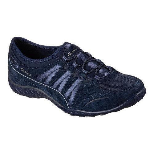 a74cb0d15f5 Shop Women's Skechers Relaxed Fit Breathe Easy Moneybags Slip On Sneaker  Navy - Free Shipping Today - Overstock - 12690282