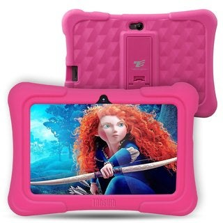 "Tablet Express Dragon Touch Y88X Plus Kids 7"" Tablet Disney Edition, Kidoz Pre-Installed, Android 5. 1, Pink"
