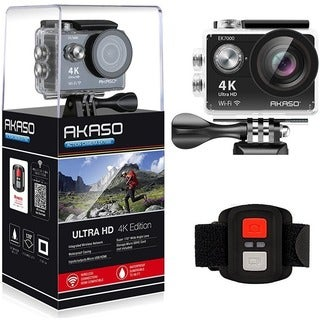 AKASO EK7000 in Black 4K WIFI Action Camera Ultra HD Waterproof Camco