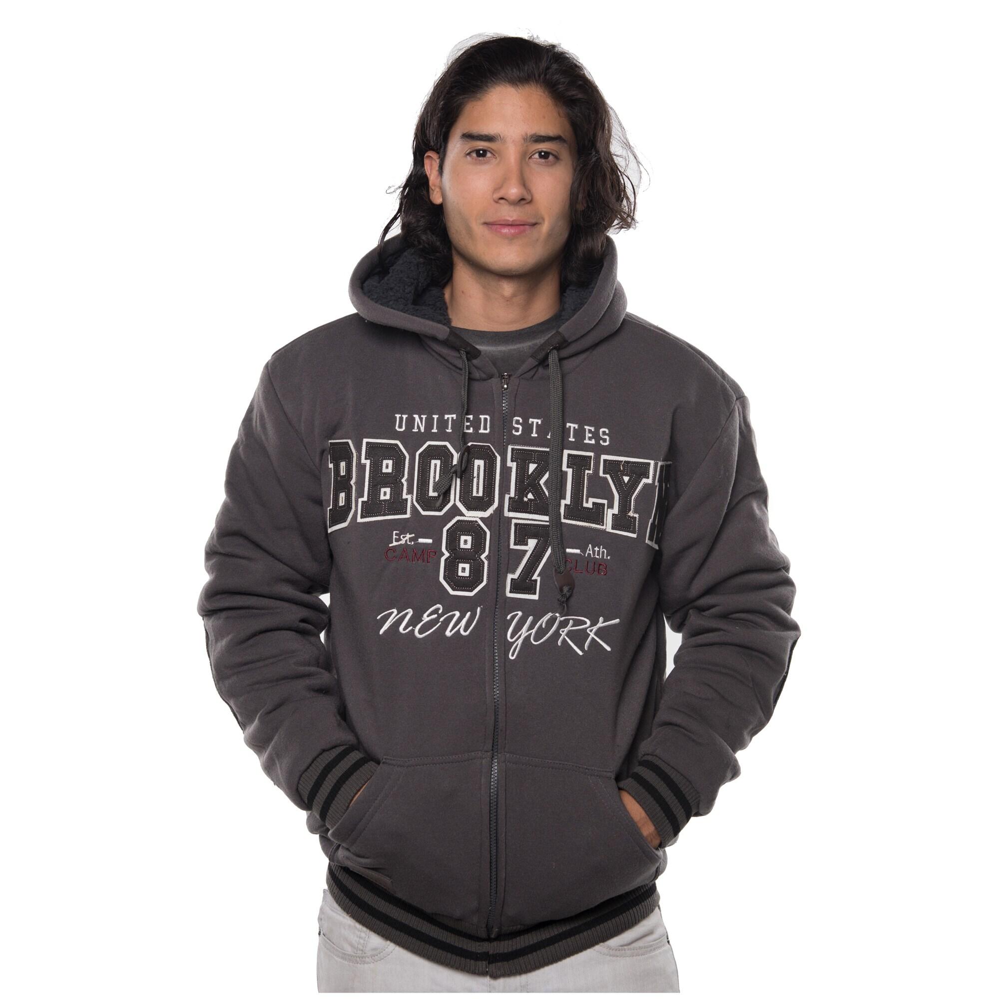 Rock Revolution Men's Polyester Fur-lined Applique Zip-up...