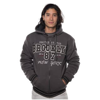 Rock Revolution Men's Polyester Fur-lined Applique Zip-up Jacket with Suede Elbow Patches and Draw String with Stopper|https://ak1.ostkcdn.com/images/products/12696186/P19479558.jpg?impolicy=medium