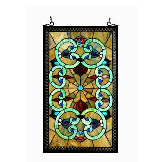 Chloe Tiffany Style Victorian Design Window Panel - M|https://ak1.ostkcdn.com/images/products/12696267/P19479647.jpg?impolicy=medium