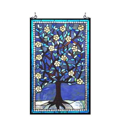 Chloe Tiffany Style Tree of Life Design Window Panel