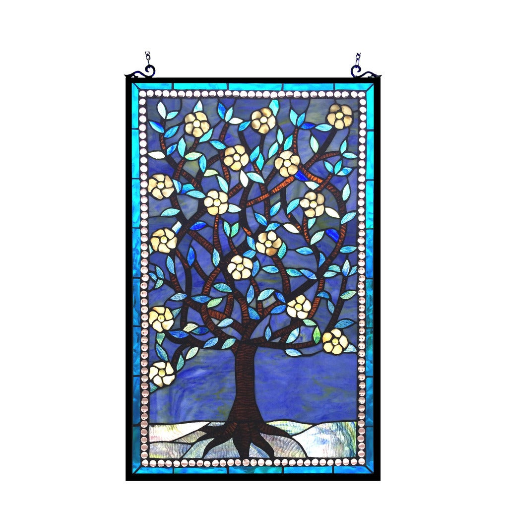 Chloe Tiffany Style Tree of Life Design Window Panel - M,...