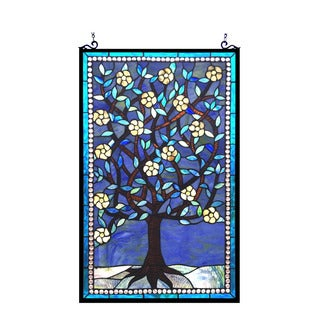 Chloe Tiffany Style Tree of Life Design Window Panel - M
