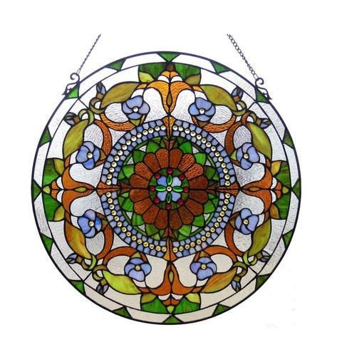 Chloe Tiffany Style Floral Design Window Panel