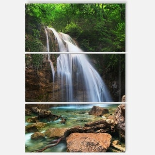 Designart - Djur Djur Waterfall - Landscape Photography Glossy Metal Wall Art