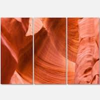 Designart - Antelope Canyon Details - Landscape Photo Glossy Metal Wall Art