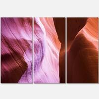 Designart - Purple Shade in Antelope Canyon - Landscape Photo Glossy Metal Wall Art