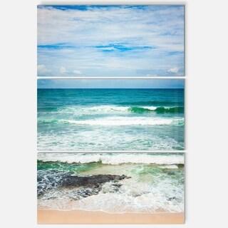 Designart - Indian Ocean - Seascape Photography Glossy Metal Wall Art