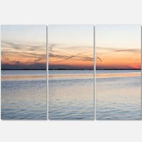 Designart - River in Front - Landscape Photography Glossy Metal Wall Art