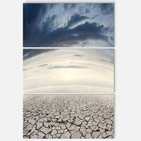 Designart - Dry Soil Dreamscape - Landscape Photo Glossy Metal Wall Art