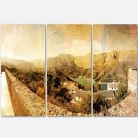 Designart - Mountain and Lofty Lake - Landscape Photo Glossy Metal Wall Art