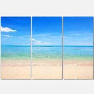 Designart - Calm Waves at Tropical Beach - Seashore Photo Glossy Metal Wall Art