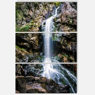 Designart - Waterfall in Sofia Bulgaria - Landscape Glossy Metal Wall Art