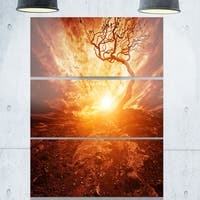 Designart - Discontinued product - Extra Large Glossy Metal Wall Art Landscape