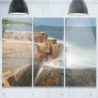 Designart - Acadia National Park Coast - Oversized Beach Glossy Metal Wall Art