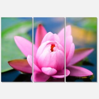 Shop large lotus flower in the pond large floral glossy metal wall designart large lotus flower in the pond large floral glossy metal wall art mightylinksfo