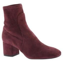 Women's Kenneth Cole New York Nikki Ankle Boot Wine Microfiber/Microsuede - Thumbnail 0