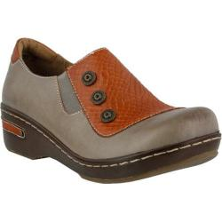 Women's L'Artiste by Spring Step Mehdi Closed Back Clog Gray Multi Leather