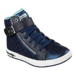 Girls' Skechers Shoutouts Quilted Crush High Top Navy