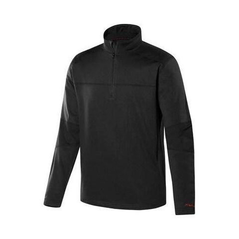 Men's Terramar Military 1/4 Zip T-Shirt Black