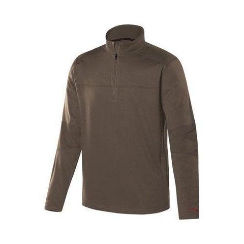 Men's Terramar Military 1/4 Zip T-Shirt Military Brown