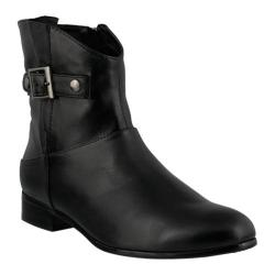 Women's Spring Step Dail Ankle Boot Black Leather
