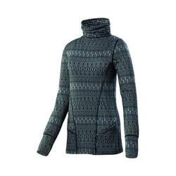 Women's Terramar Climasense Thermolator 2.0 Turtleneck Black Scroll Print