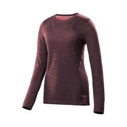 Women's Terramar Climasense Thermolator Crew Top Poppy Heather