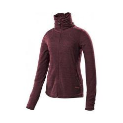 Women's Terramar Thermawool Turtleneck Full Zip Top Poppy Heather