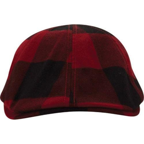 48f19e76793 Shop Men's A Kurtz Plaid Flat Cap Dark Red - Free Shipping On Orders Over  $45 - Overstock - 12521838
