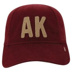 Men's A Kurtz Eight Panel Baseball Cap Dark Red