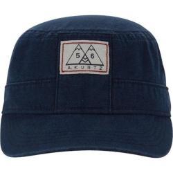 Men's A Kurtz Military Hat w/ Band Navy