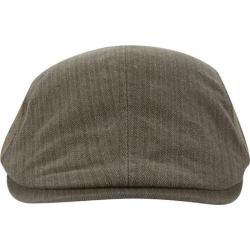 Men's A Kurtz Side Chevron Flat Cap Military