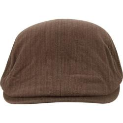 Men's A Kurtz Side Chevron Flat Cap Tan
