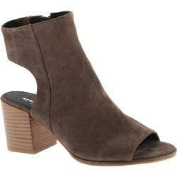 Women's Kenneth Cole New York Charlo Open Toe Bootie Walnut Suede