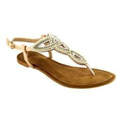 Women's L & C Agata-MR Thong Sandal Beige