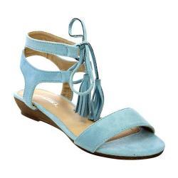 Women's L & C Arleen-12 Ankle Strap Sandal Blue